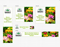 Animated banner ad for Minor's Garden Center
