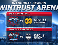 DePaul Basketball Inaugural Games at Wintrust Arena
