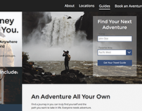 Travel Site Web Design Concept