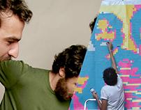 Post-It Art realizado para evento Tributo Los Hermanos