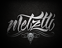 Calligraphy Metztlí......