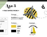 """Projet site web et logotype """"la Ferme du Bonheur"""""""