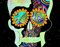 Skull A3 poster