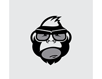 Mr.Monkey Logo Design