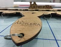 La Ardileña wood signage project