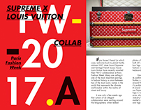 Editorial Spread for Supreme X Louis Vuitton Concept
