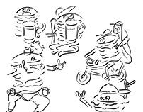 Burger characters