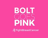 Bolt goes pink