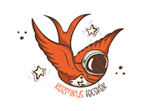 """Cosmic swallows"" logo"