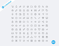 Free Vector line Icons PSD