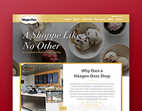 Häagen-Dazs Website Redesign