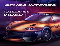 Acura Integra - Photoshop Timelapse