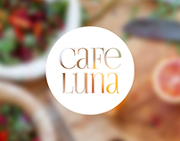 Cafe Luna Logo and Web Design