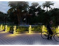 The Panellus Outdoor lighting unit