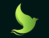 Golden ratio Dove logo