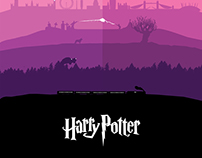 All Seven Harry Potter Stories - One Poster