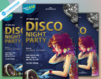 Dj Disco Night Party Flyer
