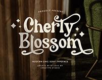 CHERLY BLOSSOM MODERN CHIC SERIF - FREE FONT
