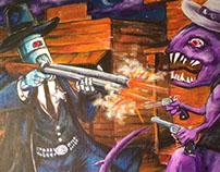 Robot Sheriff vs. Six Gun Slag