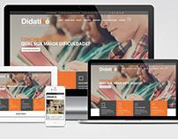 Layout e Programação Website responsivo Didatiké.