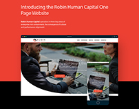 Robin Human Capital | One Page Website Project