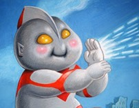 TUTORIAL: Ultraman Garbage Pail Kids style illustration