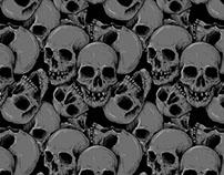 Threadless - A lot of skulls pattern