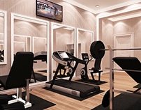 Qatar, Doha - Small Home Gym Design Option - 1 & 2