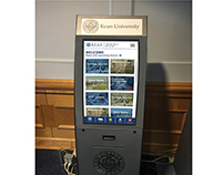 Mobile Design for Kiosk at Kean University (Mockup)