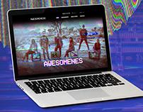 Band Website - Glitch theme