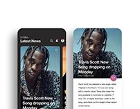 Artist news UI