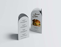 Curved Top Table Tent Mockup