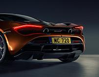 McLaren 720S studio shot
