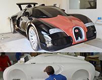 Bugatti Car with styrofoam