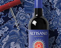 Altisano · italian wine label
