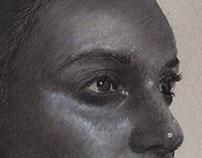 Preparatory Sketch of Portraiture - Barakah Aly