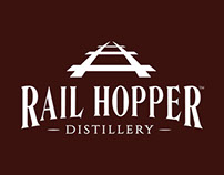 Rail Hopper Distillery Branding