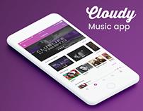 Cloudy Music app UI/UX