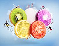 Fruit Olympic rings