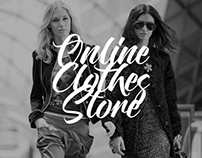 Online clothes store.