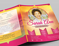 Celebrating Mom Funeral Program Booklet Template