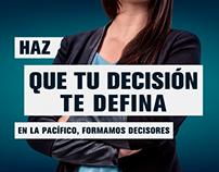 Eres lo que decides - Universidad del Pacífico