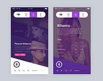 Music Mobile Service UI