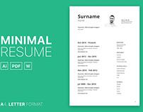 Free Minimal Curriculum Vitae Template