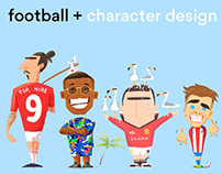 football + character design