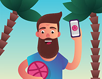 Dribbble Illustration