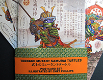 Samurai Turtles Postcard Set