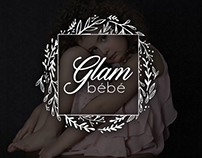 Glam bébé fine art children photography logo design