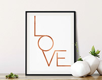 Love, Printable Wall Art