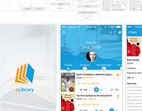 eLibrary iOS Mobile APP-UI & UX Inspiration Interface.